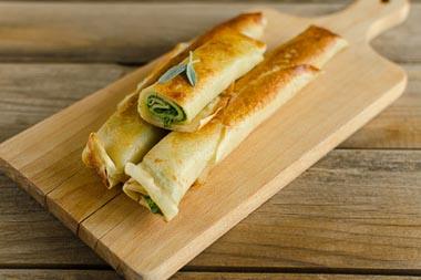 Crêpes poireau et fromage